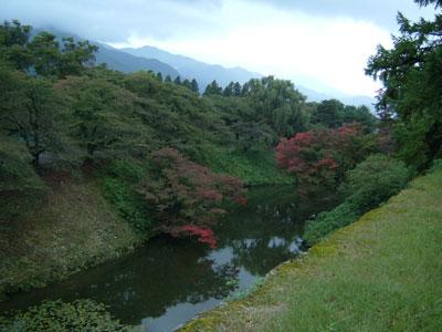 Moat around Tsurugajo in Aizu Wakamatsu in the Fall